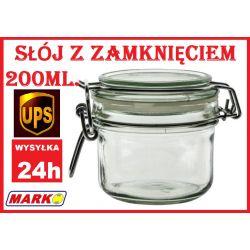 SŁOIK SZKLANY SŁÓJ 200ML. SŁOIKI HERMETYCZNY MARKO