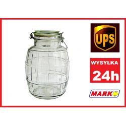 SŁOIK SZKLANY SŁÓJ BECZKA 2,8 L. SŁOIKI MARKO SZN