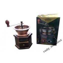 Młynek do kawy PETERHOF Ręczny DREWNO + MOSIADZ