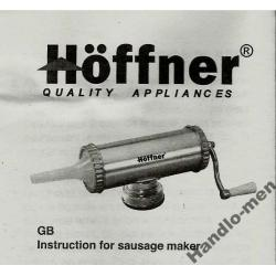 Nadziewarka do kiełbasy 2.5 kg  HOFFNER