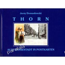 THORN Toruń na starej pocztówce ulice mapa Torunia