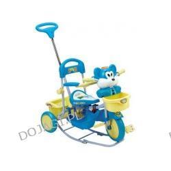 Rowerek trójkołowy z muzyką i biegunami - Myszka (niebieski)