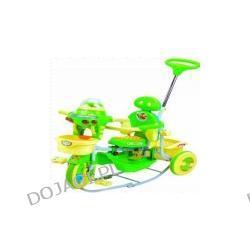 Rowerek trójkołowy spacerowy bez baldachimu, z dźwiękiem zwierząt i światełkiem (zielony)