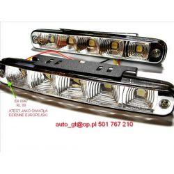Światła LAMPY DZIENNE 2x5 LED AUTOMAT 18,5cm 24h