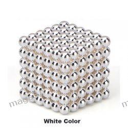 KULKI MAGNETYCZNE 5MM 216PCS NEOCUBE MAGCUBE SILVER WHITE