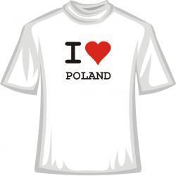 Koszulka -  I Love Poland
