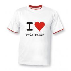 Koszulka Duo -  I Love... Twój napis - Walentynki