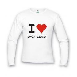 Koszulka męska -  I Love... Twój napis - Walentynki