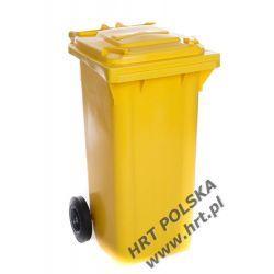Pojemnik na odpady - 120L - żółty Recykling i wywóz śmieci