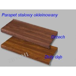 Parapety Stalowe Parapet OKLEINOWANE FOLIĄ PCV szer 100 mm