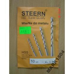 Wiertło wiertła do metalu STEERN 4 mm Super HSS Wiertła