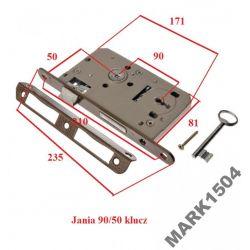 Zamek Zamki drzwiowy wpuszczany 90/50 klucz JANIA