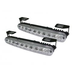 LAMPA DRL 18LED WHITE+SYS.AUTO ON/OFF SKOŚNE