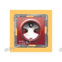 Gniazdo pojedyncze z uziemieniem DATA, z kluczem uprawniającym IMPRESJA
