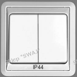 Łącznik 1-biegunowy świecznikowy IP44 FORUM