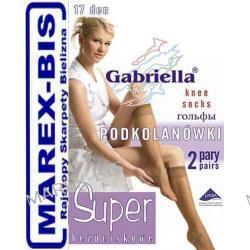 Podkolanówki LYCRA  SUPER 15 den Gabriella bezpalcowe