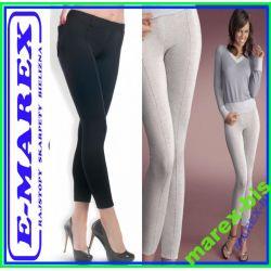 ==Gatta Spodnie legginsy z kantem Trendy Black S