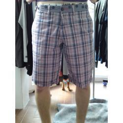 spodnie krótkie GANGSTER UNIT w kratkę