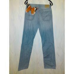Spodnie długie jeansowe jeansy marki TOMMY HILFIGER niebieskie, klasyczne