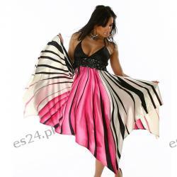 Śliczna efektowna sukienka LATYFA M/L Sukienki wieczorowe