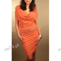 Elegancka sukienka - dżety, rozcięcia
