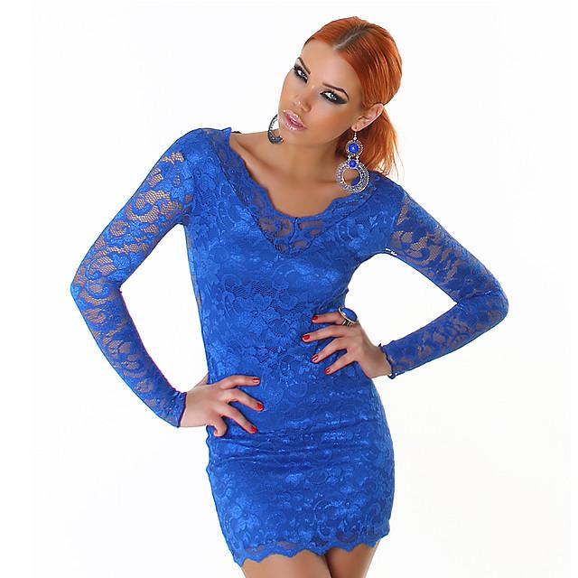 3277eb81dd Seksowna sukienka z koronki 3 nowe kolory - szafirowy S na Bazarek.pl