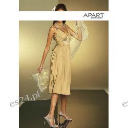 Markowa beżowa sukienka Apart S