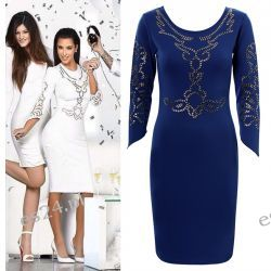Efektowna sukienka Illusion - M Sukienki wieczorowe