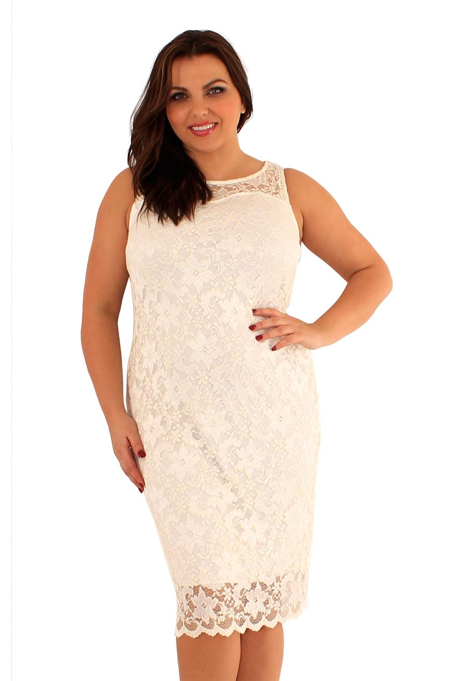 53b4463993 Śliczna sukienka z koronki w kolorze ecru 48 na Bazarek.pl