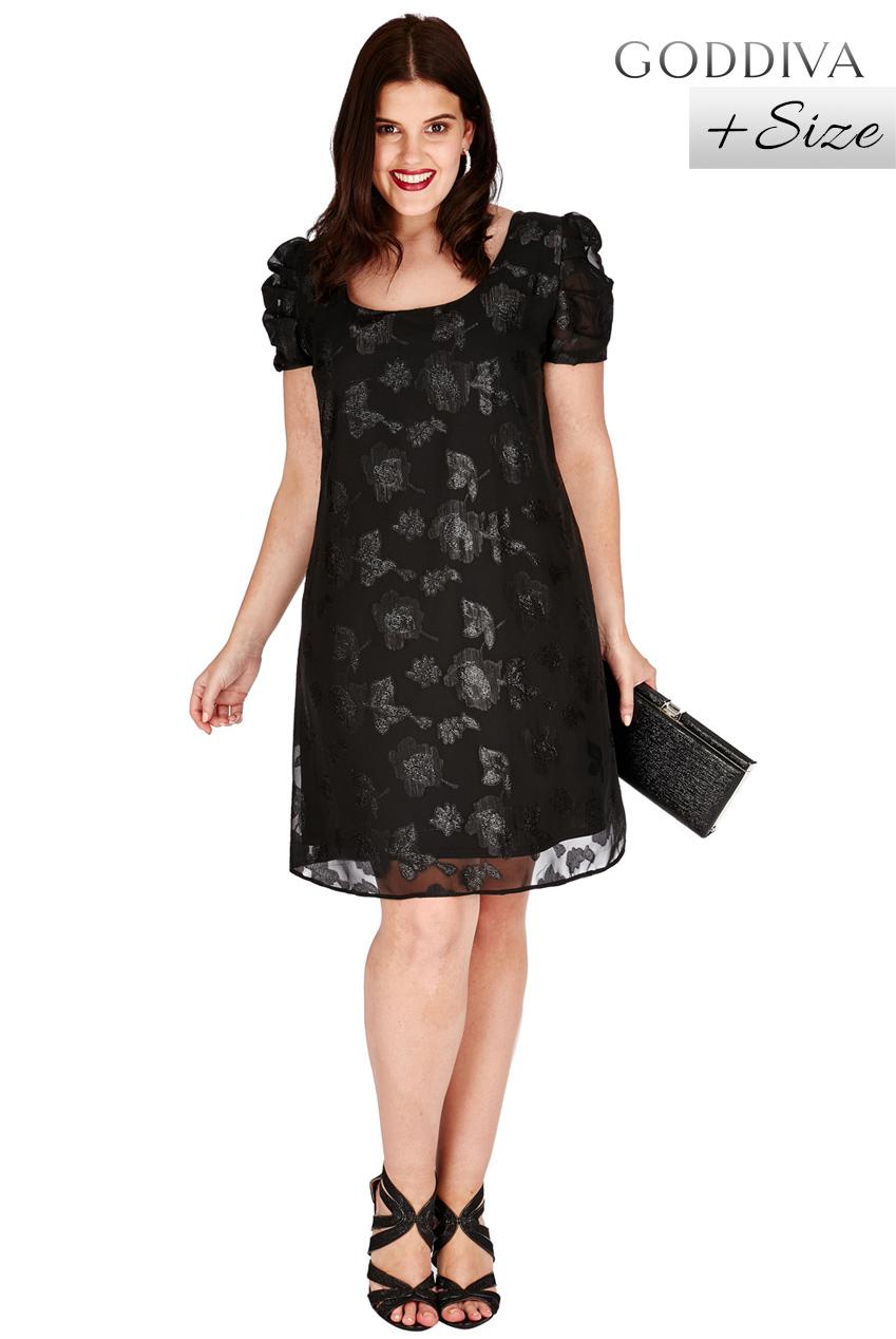 2e79427420 Śliczna czarna sukienka z szyfonu w kwiaty 48 na Bazarek.pl