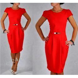 Śliczna sukienka czerwona Spors 42