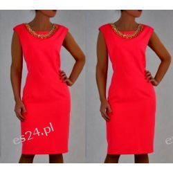 Elegancka sukienka Koliazone czerwona 50