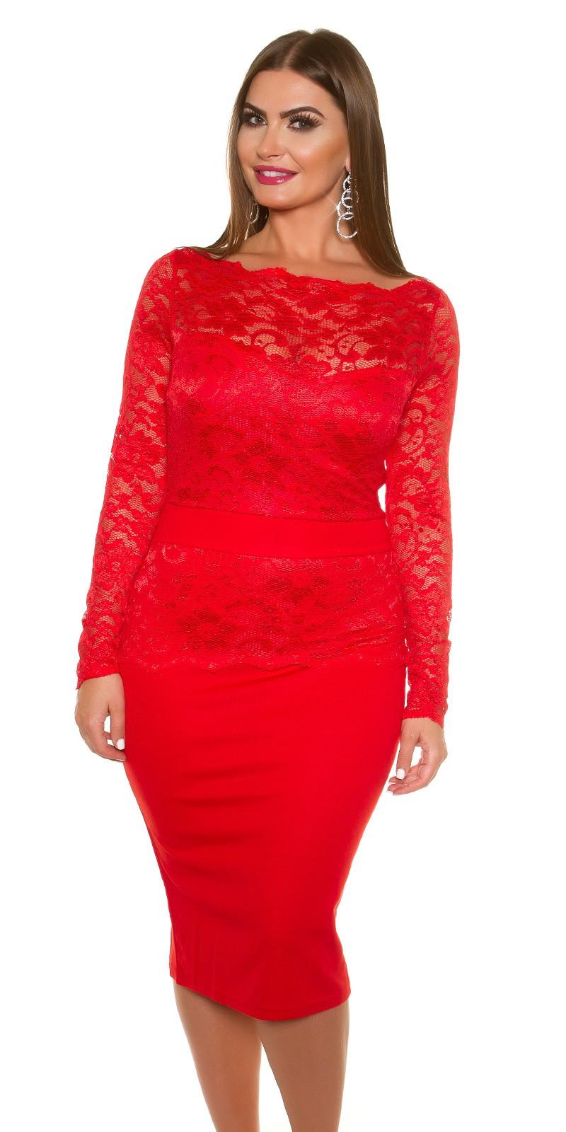 165c7bddf84bd2 Śliczna sukienka z koronką czerwona 46 na Bazarek.pl
