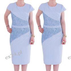 Śliczna sukienka Arleta błękit 44