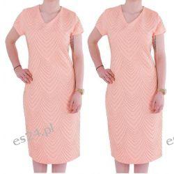 Śliczna sukienka Safira morela 44