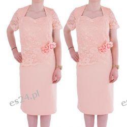 Śliczna sukienka Anita morela 44
