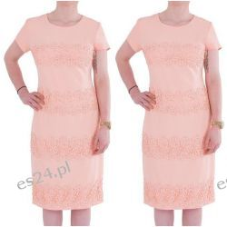 Śliczna sukienka Marina morela 42
