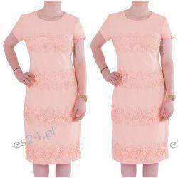 Śliczna sukienka Marina morela 46