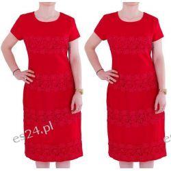 Śliczna sukienka Marina czerwień 44