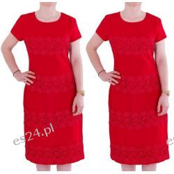 Śliczna sukienka Marina czerwień 46