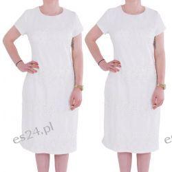 Śliczna sukienka Marina ecru 44
