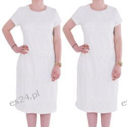 Śliczna sukienka Marina ecru 46