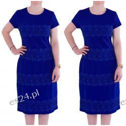 Śliczna sukienka Marina szafir 42