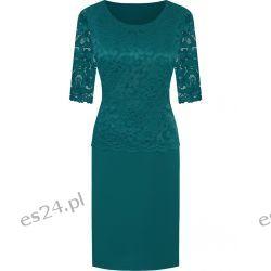 Piękna sukienka Bożena zieleń 52 Sukienki wieczorowe