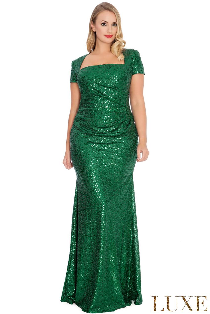 52ee9b12bb Zjawiskowa sukienka z cekinów zielona 54 na Bazarek.pl