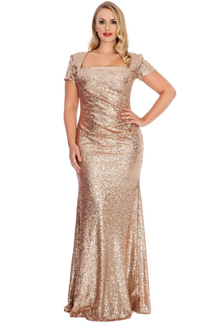 d637019f7c Zjawiskowa sukienka z cekinów złota 44 na Bazarek.pl