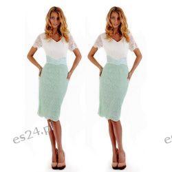 Seksowna sukienka Venus duże rozmiary mięta-ecru 46