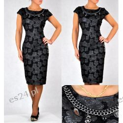 """Seksowna sukienka """"Wendy"""" duże rozmiary czarna 44"""