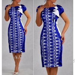 Elegancka sukienka szafirowa Gloria 50 Sukienki wieczorowe