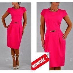Śliczna sukienka amarantowa Spors 40